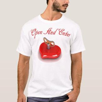 Öffnen Sie und tragen Sie mein Herz ein T-Shirt