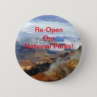 Öffnen Sie unsere Nationalparks Knopf, Button