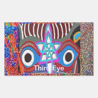 Öffnung des SolarPlexus - drittes Augen-Meditation Rechteckiger Aufkleber