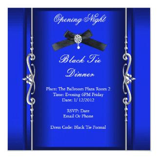 Öffnungs-Nachtschwarz-Krawatten-formales blaues Karte