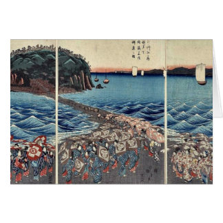 Öffnungsfeier in Soshu durch Ando, Hiroshige Grußkarte