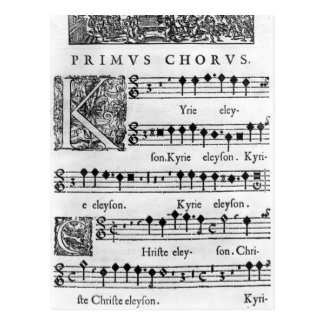 Öffnungsseite der Masse für doppelten Chor Postkarte