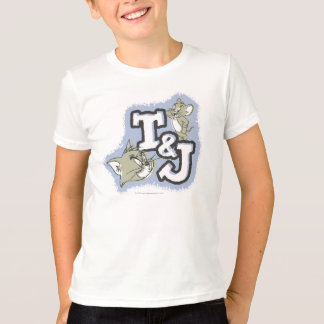 Offsetfülle Tom und Jerry-Initialen-Logo T-Shirt