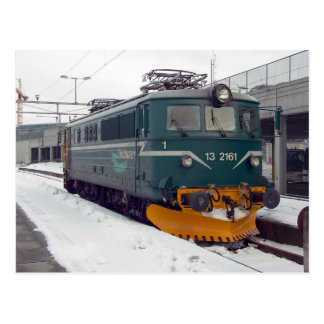 Ofotbanen elektrische Lokomotivel 13 in Trondheim Postkarte