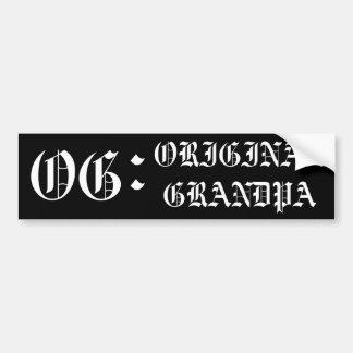 OG - Der ursprüngliche Großvater Autoaufkleber