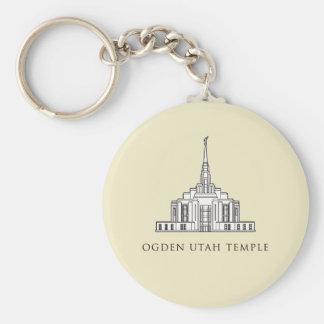 Ogden Utah Tempel. keychain Schlüsselanhänger