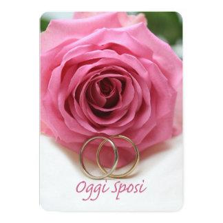 Oggi Sposi - italienische Hochzeitseinladung 12,7 X 17,8 Cm Einladungskarte