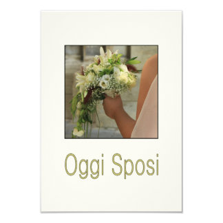 Oggi Sposi - italienische Hochzeitseinladung 8,9 X 12,7 Cm Einladungskarte