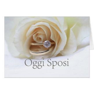 Oggi Sposi - italienische Hochzeitseinladung Grußkarte