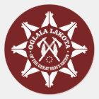 Oglala Lakota Runder Aufkleber