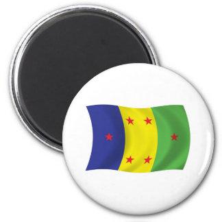 Ogoni Leute-Flaggen-Magnet Runder Magnet 5,1 Cm