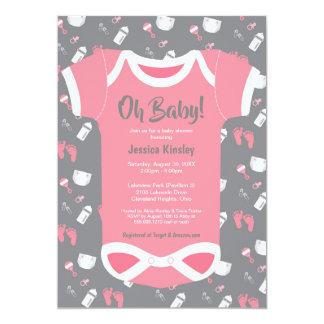 Oh Baby! Bodysuit-Baby-Duscheneinladung Karte