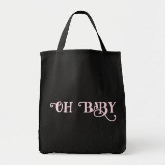 Oh Baby-personalisiertes rosa Girly Mädchen Einkaufstasche