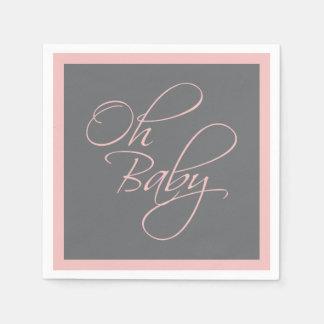 Oh Baby-vornehme Babyparty für Mädchen Serviette