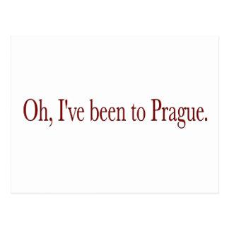 Oh bin ich nach Prag gewesen Postkarte