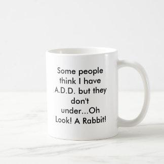 Oh Blick! Ein Kaninchen! Kaffeetasse