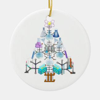 Oh Chemie, oh Chemiker-Baum Rundes Keramik Ornament