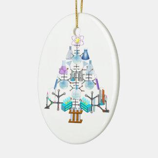 Oh Chemie, oh Chemiker-Baum Ovales Keramik Ornament