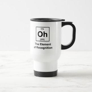 Oh! Das Element der Anerkennung Edelstahl Thermotasse