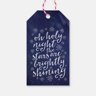 Oh etikettiert heiliges Nachtsternenklare Geschenkanhänger