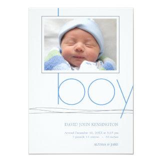 Oh | Foto-Geburts-Mitteilung 12,7 X 17,8 Cm Einladungskarte