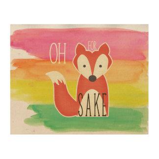Oh für Fox-Grund-Aquarell-Streifen Holzleinwände