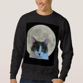 Oh, hallo Miezekatze und der Vollmond Sweatshirt