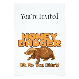 Oh kein Honig-Dachs 12,7 X 17,8 Cm Einladungskarte