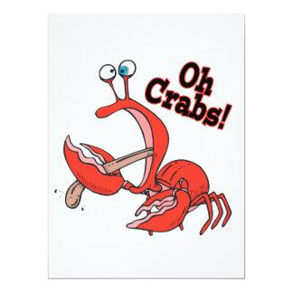oh lustige Krabbe der Krabben, die Zunge klemmt Einladungskarten