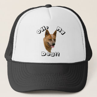 Oh mein Hundeaustralisches Vieh-Hunderot Truckerkappe