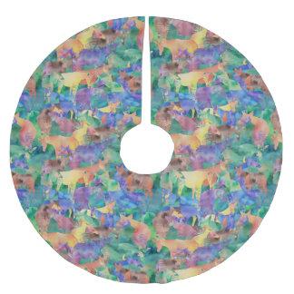 Oh, mein Okapi! Polyester Weihnachtsbaumdecke
