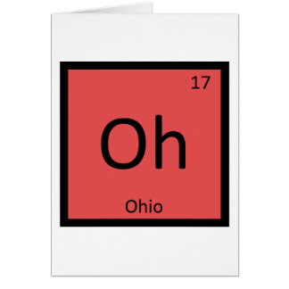 Oh - Ohio-Chemie-Periodensystem-Element-Symbol Karte