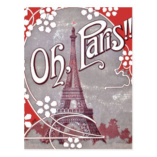 Oh Paris-Eiffelturm-Postkarte Postkarte