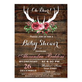 Oh Rotwild-Babyparty-Einladung 12,7 X 17,8 Cm Einladungskarte