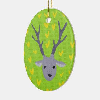 Oh Rotwild! Weihnachtsverzierung Keramik Ornament