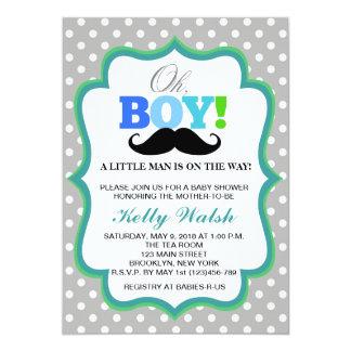 Oh Schnurrbart-Babyparty-Einladungs-Tupfen 12,7 X 17,8 Cm Einladungskarte