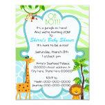 oh Tierdruck-Babypartyeinladung Einladungskarte