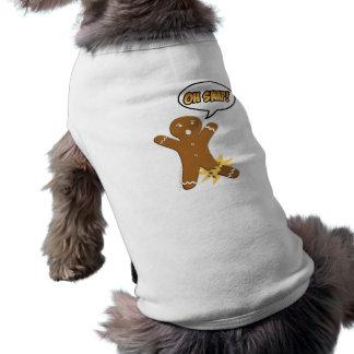Oh Verschluss! Lustiger Lebkuchen-Mann Ärmelfreies Hunde-Shirt