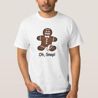 Oh, Verschluss! Übertriebener Lebkuchen-Mann-T - T-Shirt
