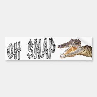 OH-VERSCHLUSS - verärgerter Alligator Autoaufkleber