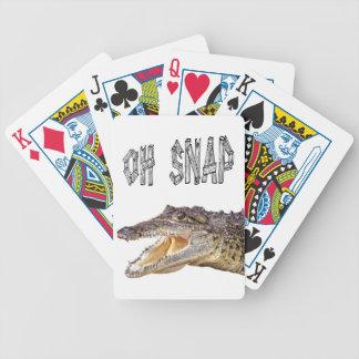 OH-VERSCHLUSS - verärgerter Alligator Bicycle Spielkarten