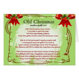Oh! Weihnachten Grußkarte