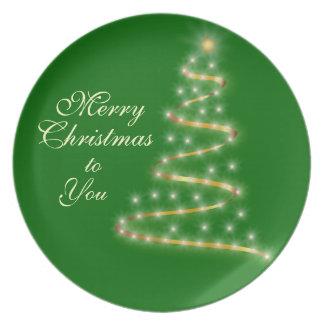 Oh Weihnachtsbaum-Geschenk-Servierplatte Party Teller