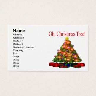 Oh Weihnachtsbaum Visitenkarte