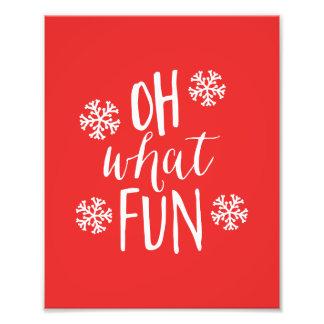Oh welcher Spaß-Feiertags-Kunst-Druck Kunst Fotos