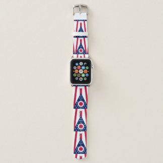 Ohio-Flagge Apple Watch Armband