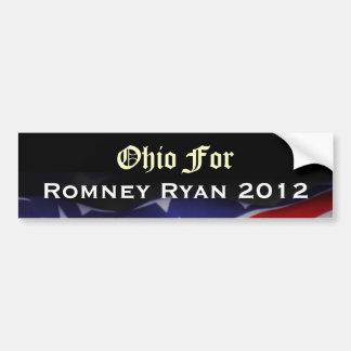 Ohio für Romney Ryan Autoaufkleber 2012