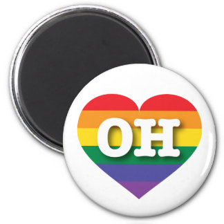 Ohio-Gay Pride-Regenbogen-Herz - große Liebe Runder Magnet 5,1 Cm