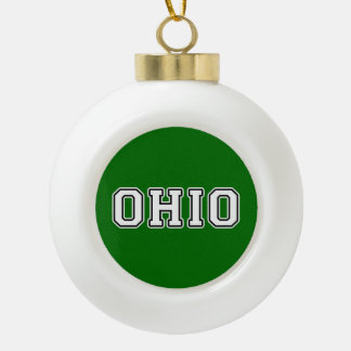 Ohio Keramik Kugel-Ornament
