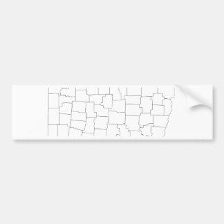 Ohio-Landkreise Autoaufkleber